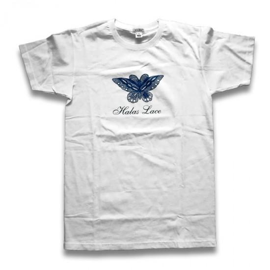 Fehér lepkés póló